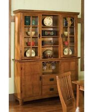 China Cabinets And Hutches With Glass Doors Buffet Cottage Oak Dining Room New
