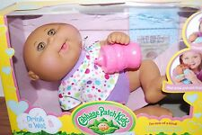 (NEW) DRINK N WET AFRICAN AMERICAN CABBAGE PATCH KID BLACK BABY DOLL GIRLS TOYS