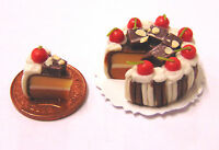 1:12 Sliced Chocolate Layer Cake Dolls House Miniature Kitchen Accessory SC9