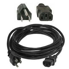 15ft long 18awg Standard Power Cord/Cable/Wire Computer IEC320 C13 10A $SHdisc