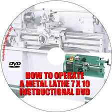 Learn how to operate a metal lathe 7 x 10 instructional DVD - DIY guide