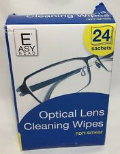 24 SACHET OPTICAL LENS CLEANING WIPES NON-SMEAR EASY GLASSES CAMERAS