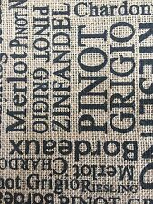 FQ Stunning ��WINE�� Hessian Natural Jute Fabric Sew Craft