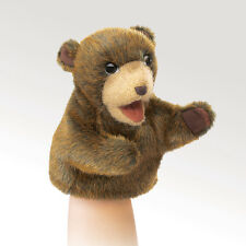 *NEW* PLUSH SOFT TOY Folkmanis 2926 Little Hands Brown Bear Hand Puppet