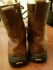 Leather Brown UGG Australia Vibram Lined Lace Up Mens Size 8M Boots Shoes