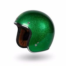 Torc Route 66 T50 Limecycle Super Flake 3/4 Open Face Helmet Medium