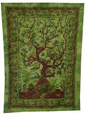 arbre de vie TAPISSERIE TENTURE MURAL INDIEN COUVRE-LIT Ethnique Décoration Art
