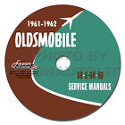 1961 1962 Oldsmobile Shop Manual CD Olds 88 98 Service Repair Dynamic Super