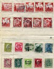 20 x DEUTSCHES REICH / VOLKSSTAAT BAYERN  (gestempelt, mit Falz auf Papier) #1
