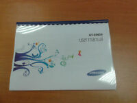 SAMSUNG GALAXY ACE GT- S5830 S5830i PRINTED USER GUIDE INSTRUCTION MANUAL A4