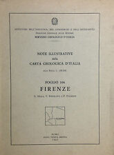 (Geologia) CARTA GEOLOGICA D'TALIA  FIRENZE  Nuova Tecnica Grafica 1967