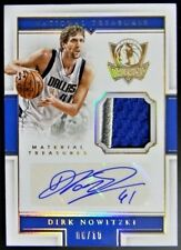 Dirk Nowitzki 2015 Panini National Treasures auto/autograph G/U patch RARE 6/10