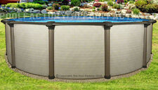 """18x54"""" Melenia Round Above Ground Swimming Pool with 25 Gauge Liner"""