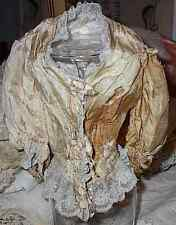 Antique Doll Blouse Silk and Lace Victorian Edwardian AS IS Design Pattern