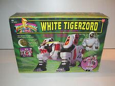 MMPR POWER RANGERS - WHITE RANGER & TIGERZORD MIB - BANDAI 1995
