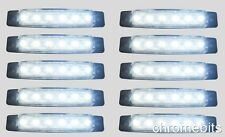 10 pcs White 24V 6 LED Side Front Marker Indicator Light Lamp Trailer :lorry new