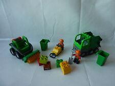 LEGO Duplo Kehrmaschine + Müllabfuhr + Rüttler - Müll Tonne - Set 4678 + 4659 -