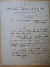 1899-FABBRICHE RIUNITE DI FIAMMIFERI-CARTA INTESTATA-MILANO