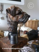 'Border Terrier' Walking Stick Handle