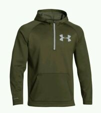 NWT $80 UNDER ARMOUR STORM 1 COLD GEAR FLEECE PULLOVER HOODIE GREEN SIZE XL