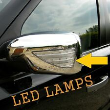 chrome mirror cover caps LED indicator+welcome light Land Rover Discovery LR3