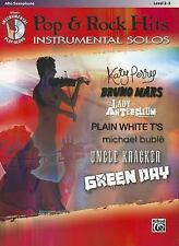 Pop & Rock Hits Instrumental Solos: Alto Sax, Book & CD (Pop Instrumental Solo S