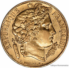 1851 French 20 Francs 2nd Republic France Gold Km 762