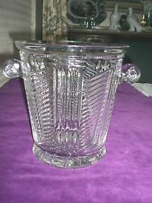 "DESIGN CUTT/  Large CUT CRYSTAL ICE BUCKET / ETCHED MARK / 9 3/8"" x 9"" / Exc."