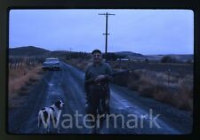 1960s Kodachrome Photo slide Man and dog with caught birds  Hunting