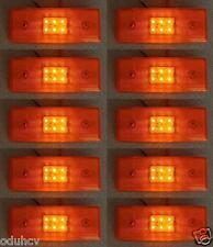 10x Trasero Lateral NARANJA Marcador 6 Luces LED luces 24V Camión De Remolque