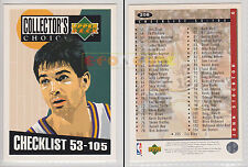 NBA UPPER DECK 1994 COLLECTOR'S CHOICE Checklist 53-105 John Stockton #208 MINT