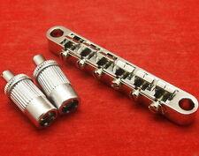 Set Ibanez Nickel Guitar Saddle Tune-O-Matic Bridge Fit Epiphone Les Paul SG New