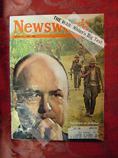 NEWSWEEK March 31 1969 3/31/69 VIETNAM NIXON'S BIG TEST