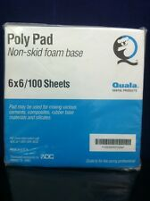 "QUALA POLY PAD 100 6x6"" Sheets  Dental Mixing Paper Non-Skid Foam Base, Cement"