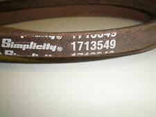 OEM GENUINE SIMPLICITY, MURRAY TRACTOR BELT 1713549, 1727773SM
