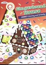 Gingerbread House Christmas Coloring and Activity Book for Children