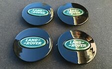 NEW SET OF 4 LAND RANGE ROVER BLACK & GREEN CENTER WHEEL EMBLEM BADGE HUB CAPS