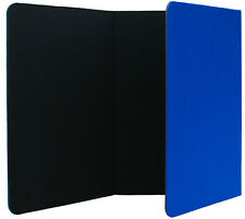 6 FOOT WIDE TABLETOP 3-FOLD PANEL BLUE / BLACK COLOR