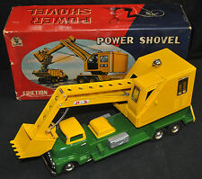 Power Shovel Friction Toy Japan Tin Litho NM - SSS International (1950s) ITB WH