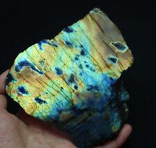 394g Natural two-side Polished Labradorite Quartz Crystal Rough Specimen