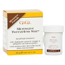 GiGi 0255 Microwave Tweezeless Wax non-strip formula for facial waxing 1oz