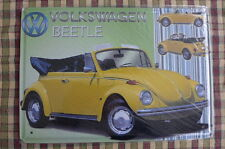 VW Beetle Tin Metal Sign Painted Poster Wall Art Office Hobby Shop Garage Collec