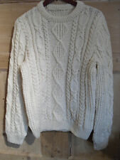 "Hand knitted aran wool sweater - chest 36"" (91cm)"