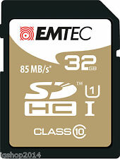 MEMORY CARD 32 GB CLASS 10 GOLD MEMORY 85 MB/S FULL HD CANON NIKON