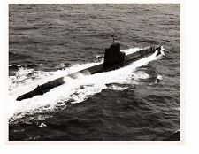 1963 USS Rock SS274 Submarine Official Navy Photograph 8x10 BW South China Sea
