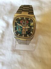Bulova Spaceview Accutron Watch And Matching Bracelet