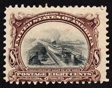 US # 298 *MINT OG H* { 8c PAN-AMERICAN } CANAL LOCKS AT SAULT Ste. MARIE CV $95