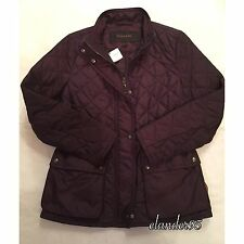 New Coach F84993 Women's Diamond Quilted Jacket Outerwear Black Violet Size S