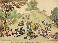 THOMAS ROWLANDSON BRITISH ONE TREE HILL GREENWICH PARK ART PRINT POSTER BB6439A