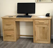 Arden solid oak furniture large computer PC laptop desk home office study